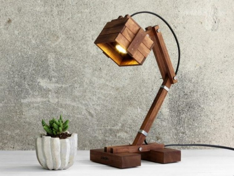 Study Wooden Lamp
