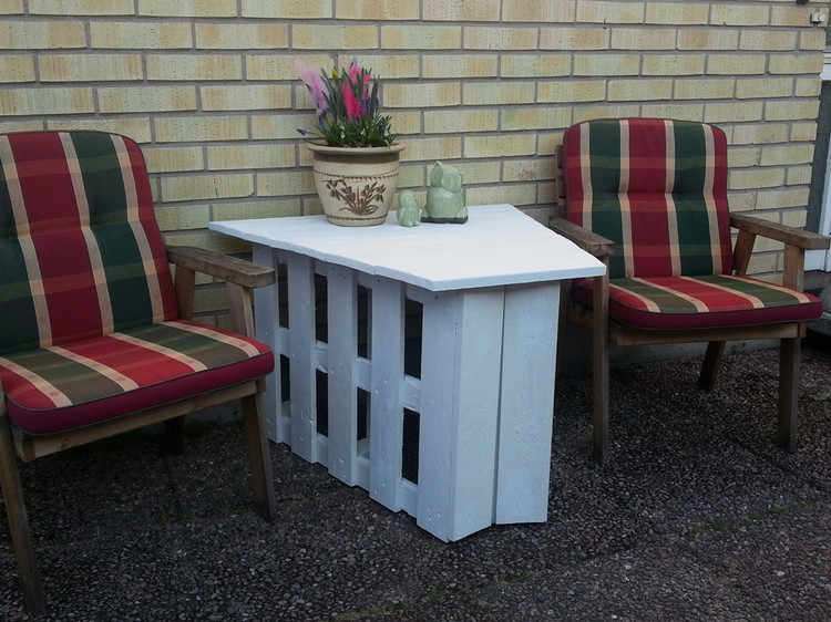 Unique Pallet Garden Table