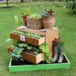 Used Drawers into Garden Planter