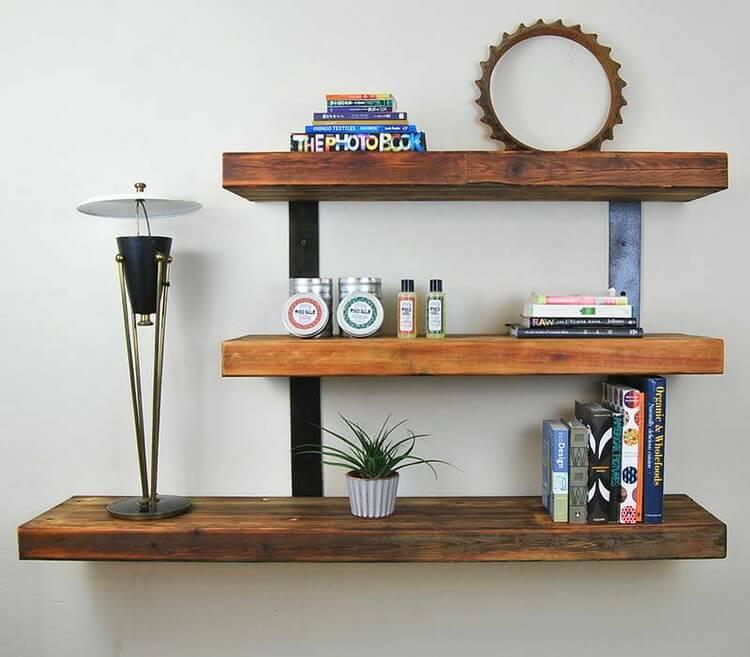 Wooden Wall Shelf Idea