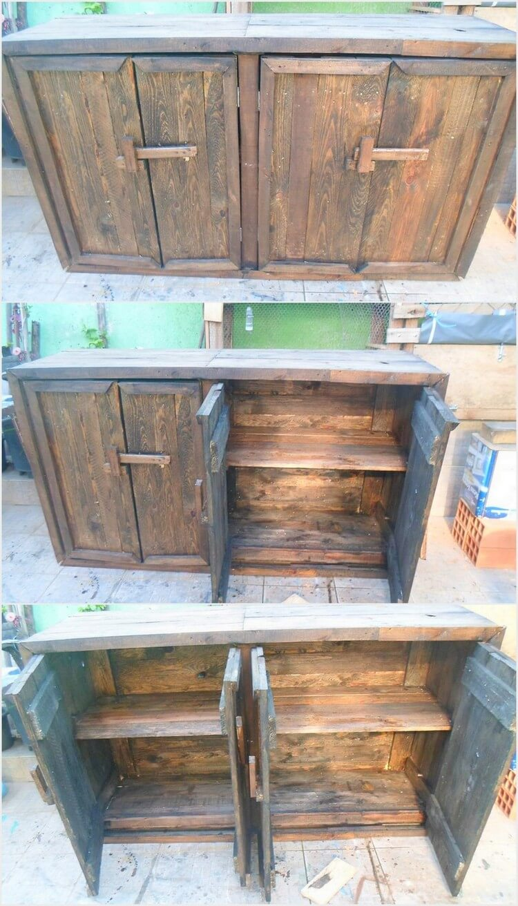 Big Wood Pallet Cabinet