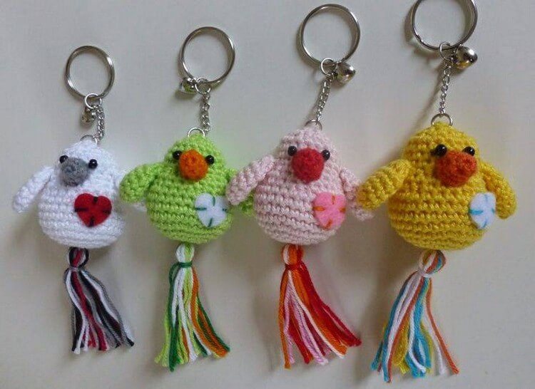 Crochet Key Ring Ideas