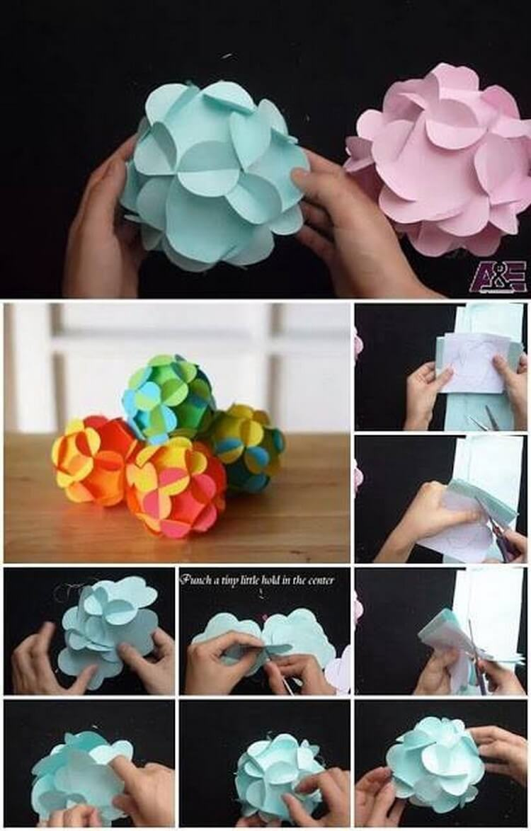 DIY Colorful Paper Flowers
