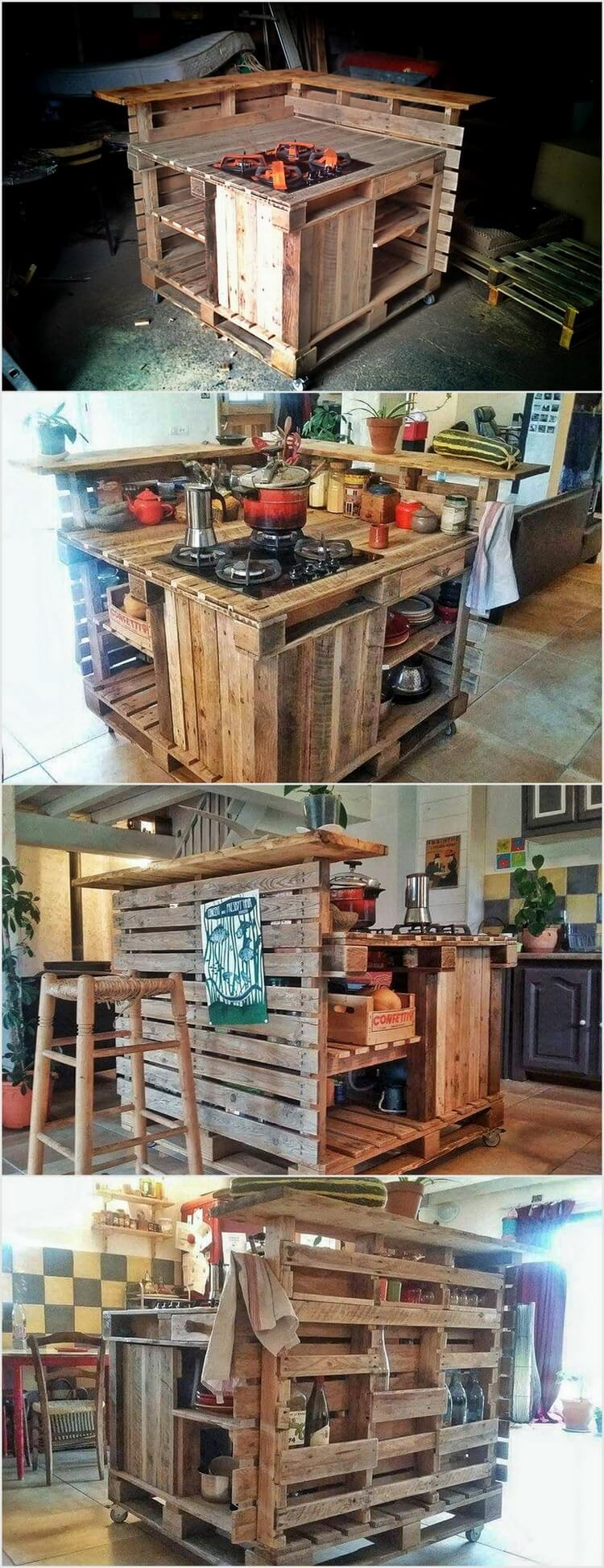 Creative ways to recycle wood pallets into useful things for How to make a pallet kitchen table