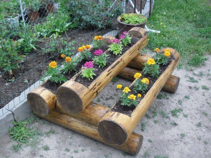 Garden Decor with Wood