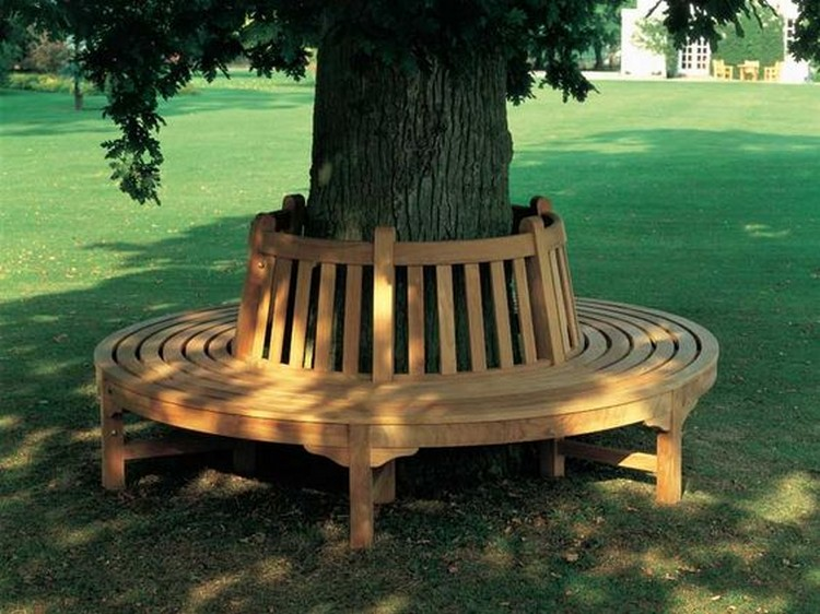 creative inspiring tree seats around trees recycled things. Black Bedroom Furniture Sets. Home Design Ideas