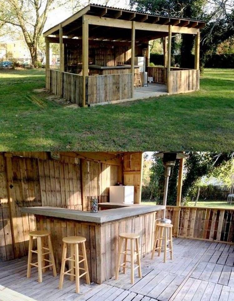 Garden Wood Pallet Bar