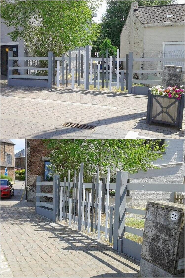 Outdoor Pallet Fence Gate