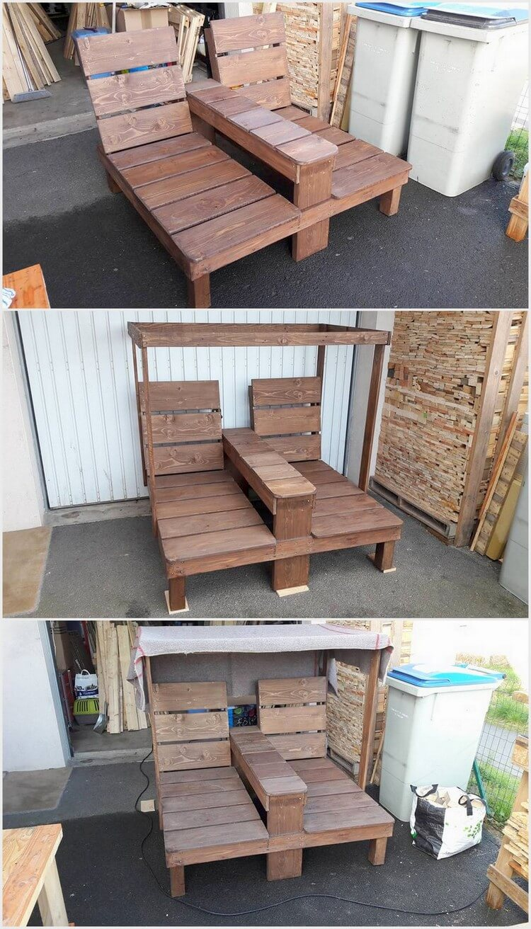 Pallet Double Sun Lounger