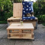 Pallet Garden Seat and Table