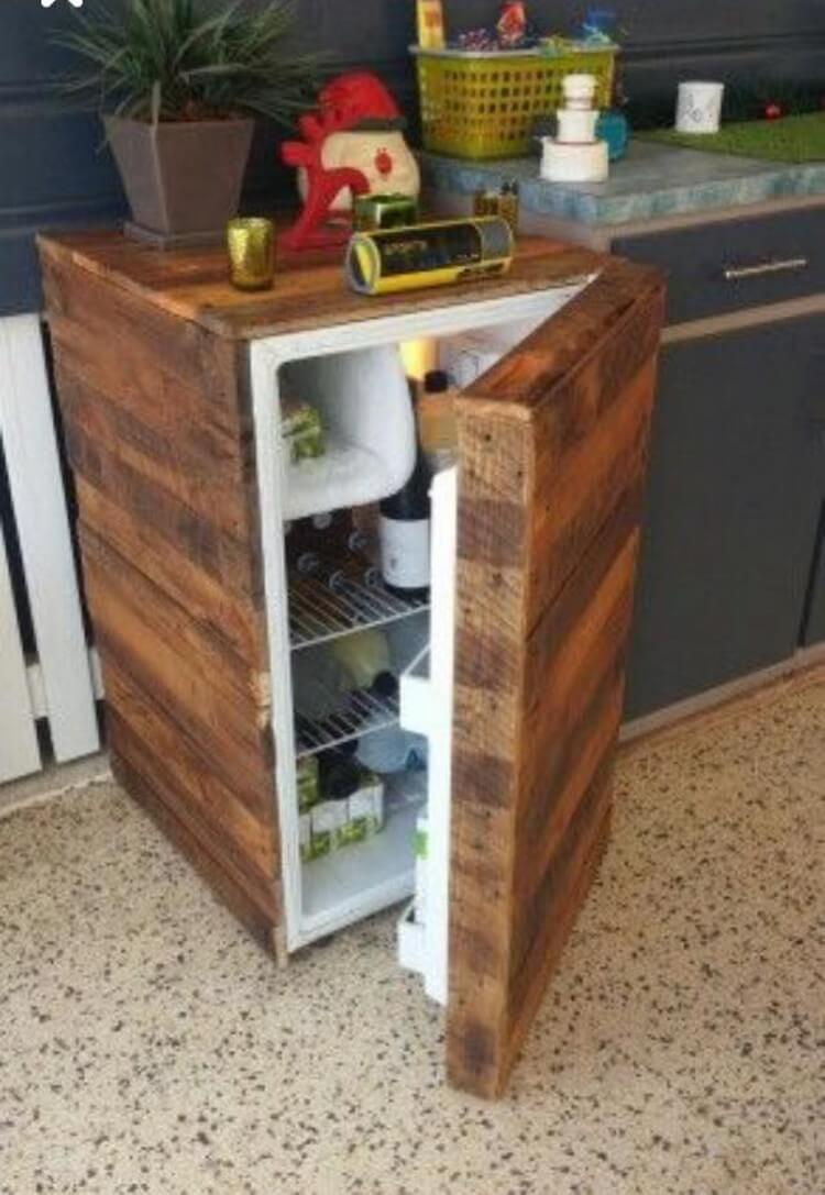 Pallet Mini Fridge