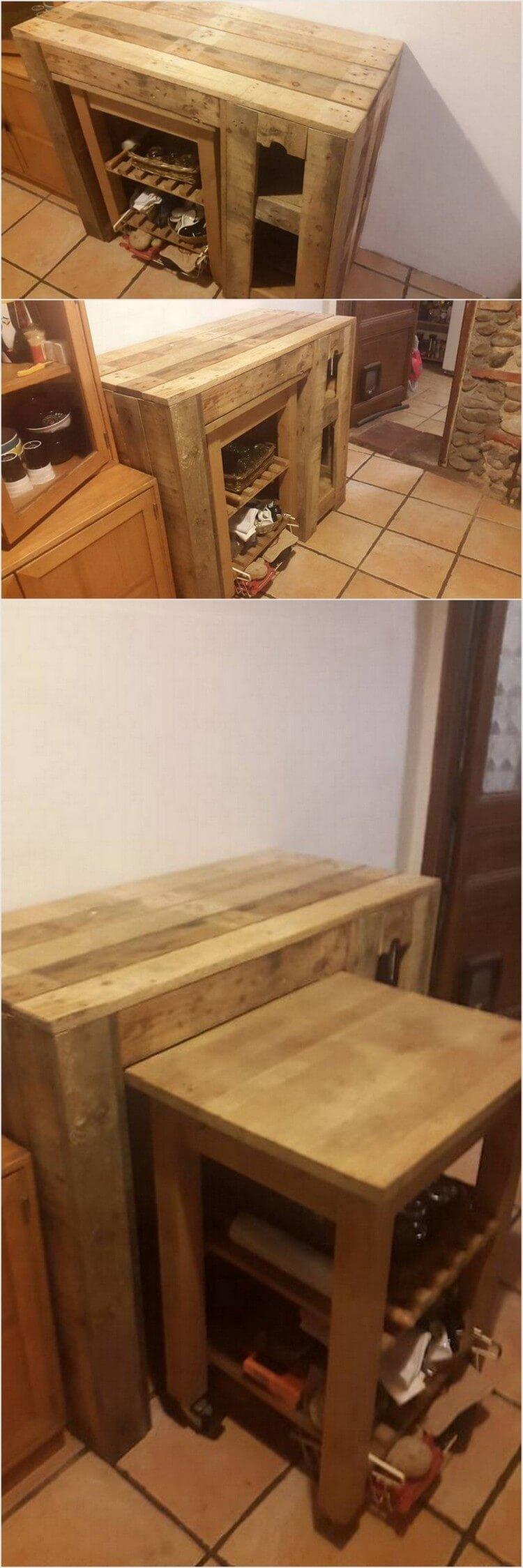 Pallet Shoe Rack Table