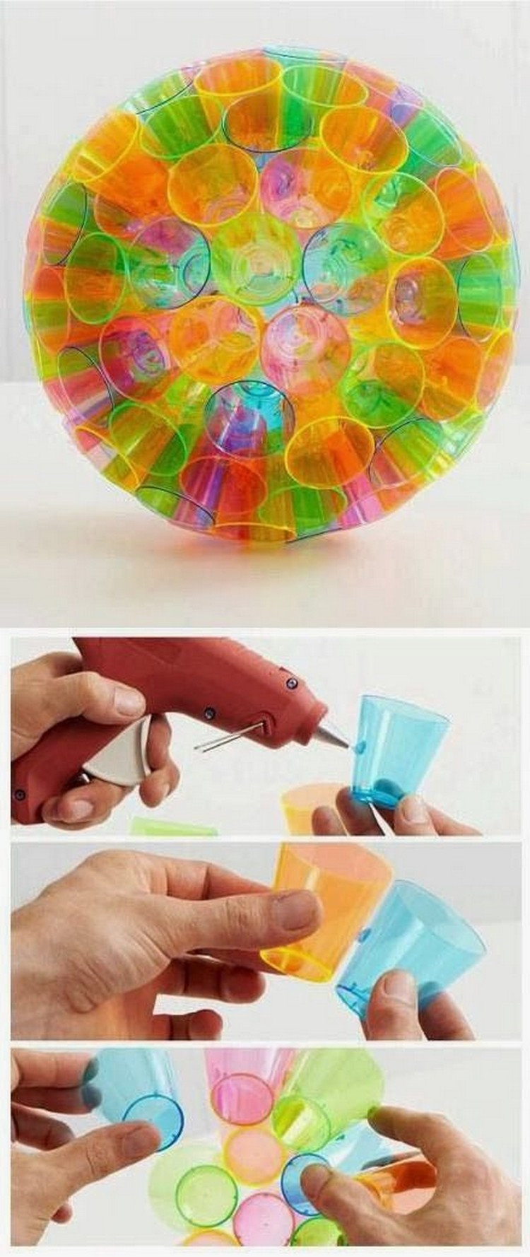 Plastic Bottles Lamp Shades