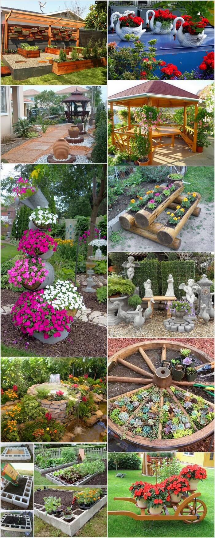 Pretty wonderful diy garden decor ideas recycled things for Homemade garden decorations
