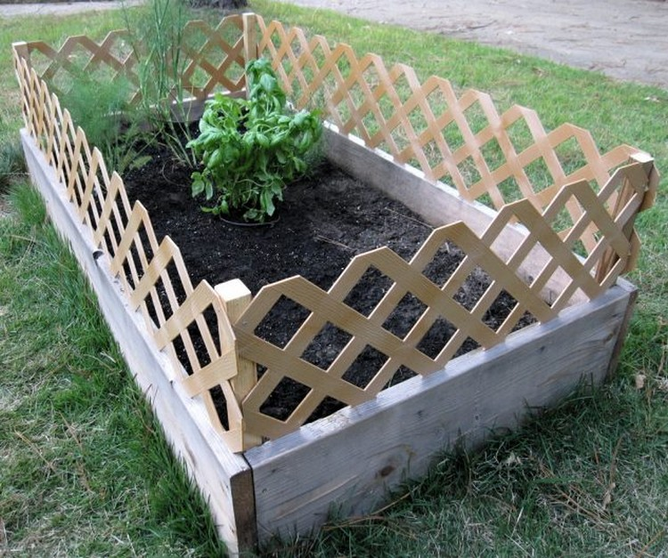 Raised Garden Bed with Fence