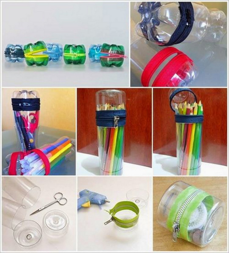 Easy crafts made with recycled materials recycled things for Things to do with plastic bottles