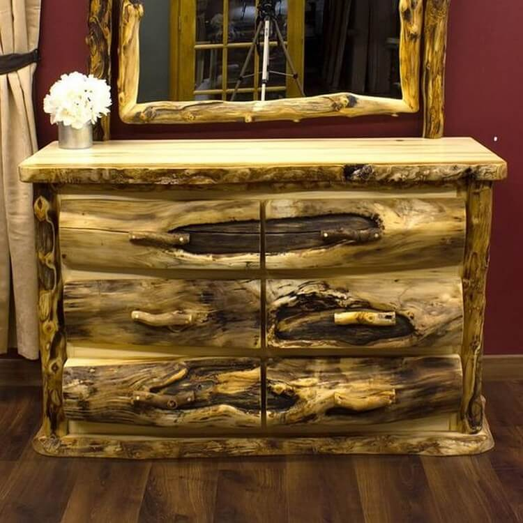 Rustic Dresser with Drawers