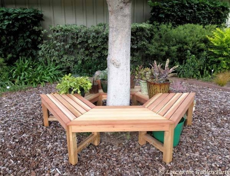 Seat Around Tree with Planters