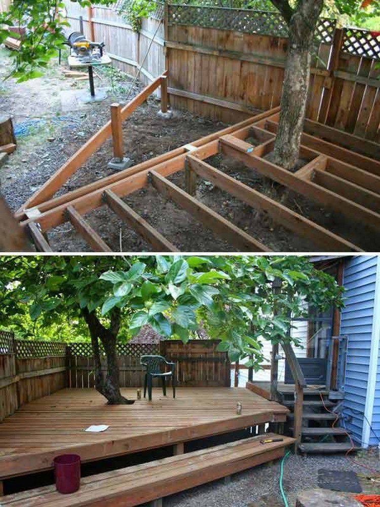 Seat or Deck Around Tree
