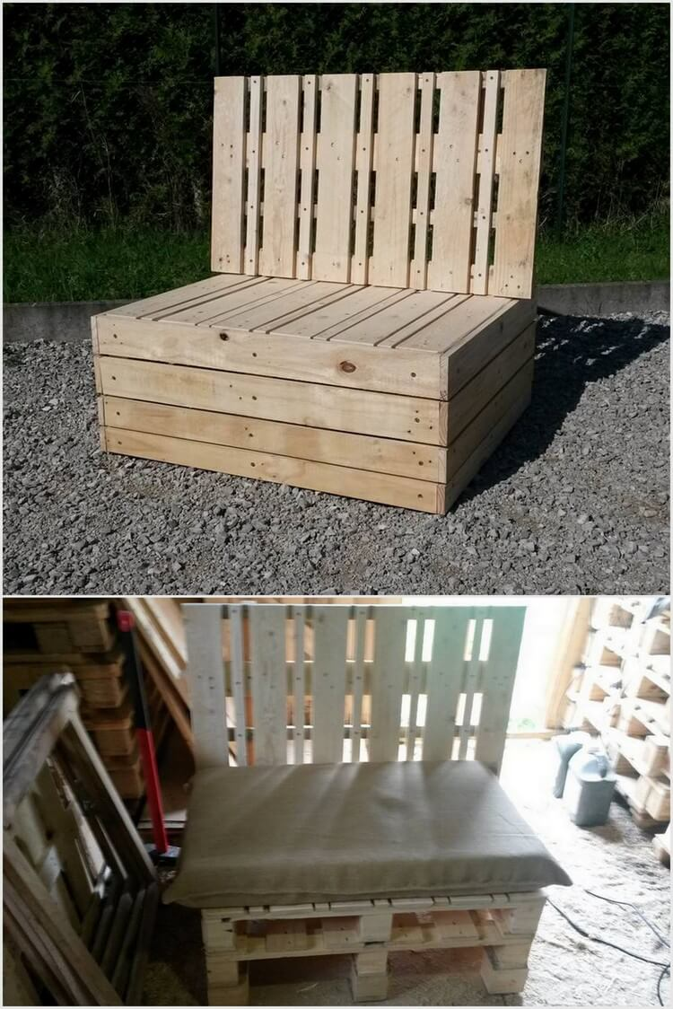 Unique Wood Pallet Seat