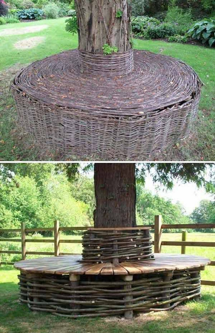Wonderful Seat Around Tree