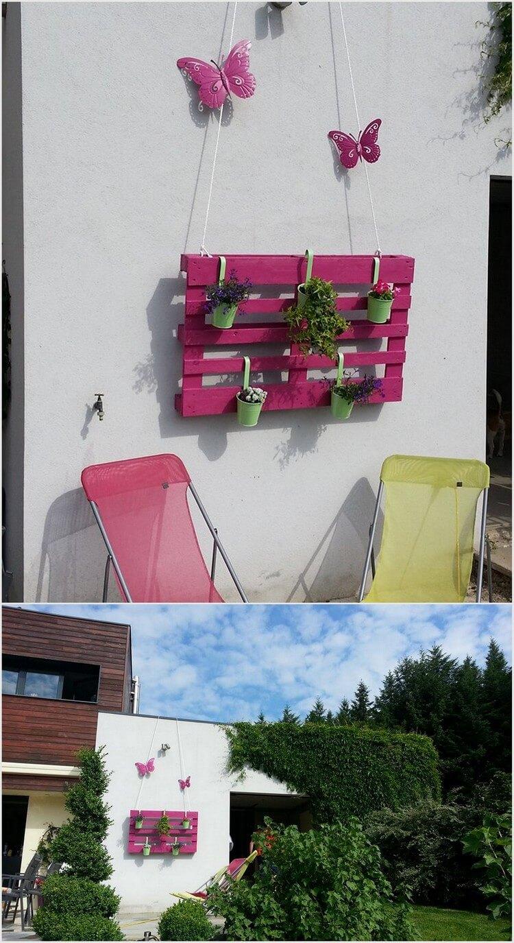 Wood Pallet Decor Idea