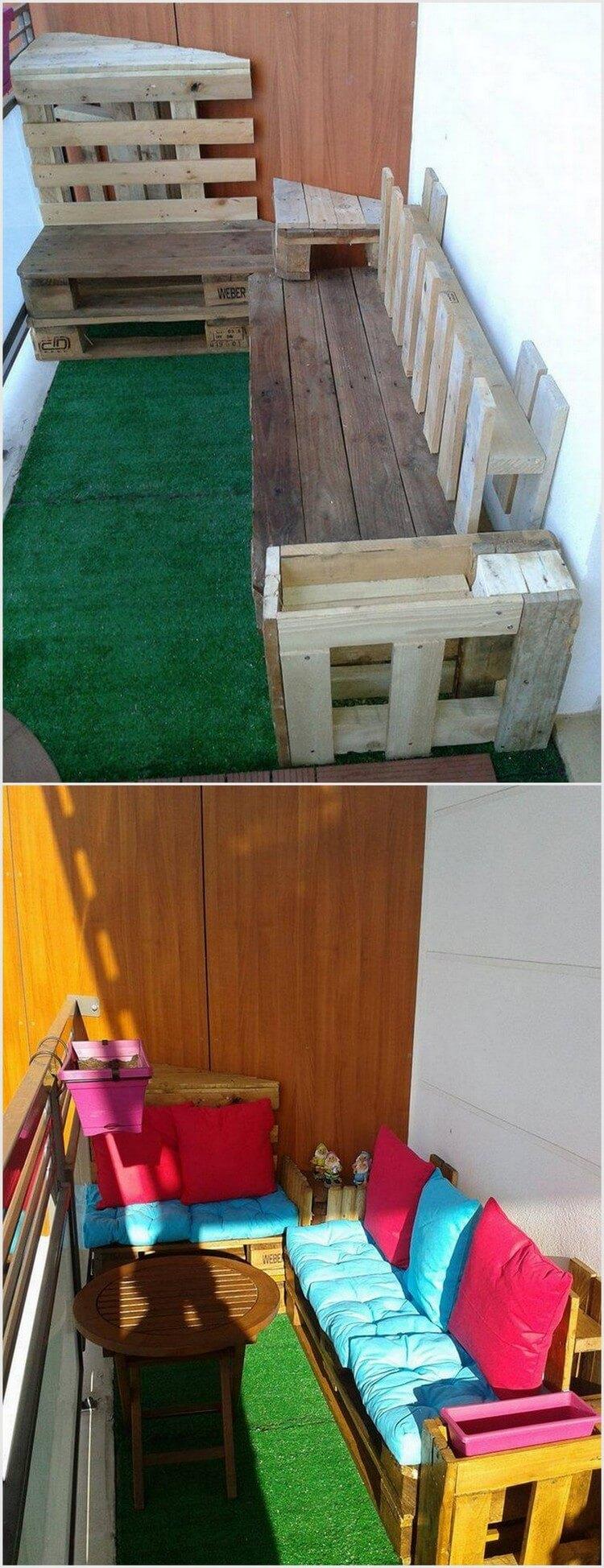 Wood Pallet Terrace Sofa