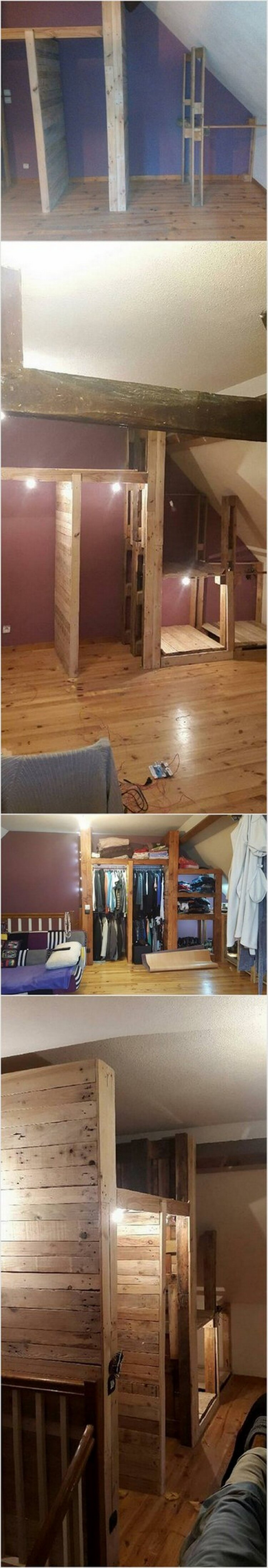 Wood Pallets Wardrobe