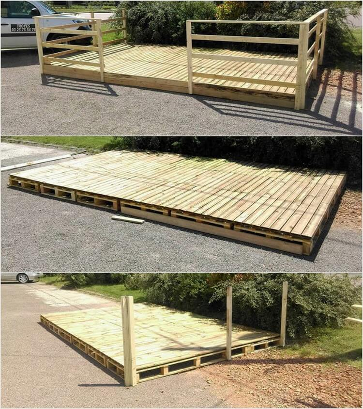 Wooden Pallet Outdoor Deck