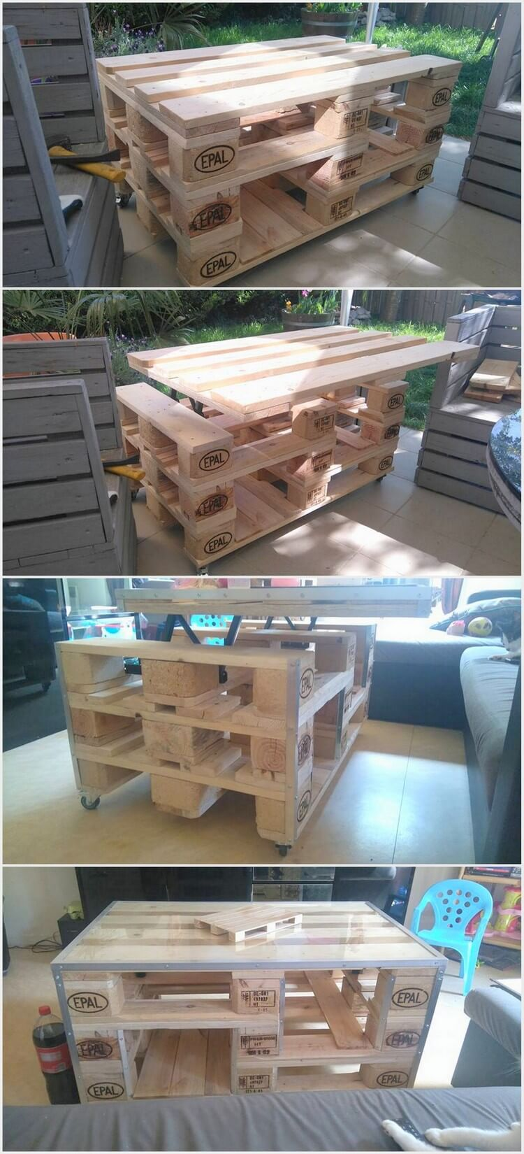 25 unique and creative ways to recycle wooden pallets for Creative ways to recycle