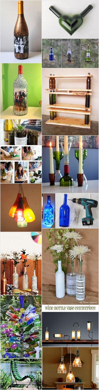 Creative DIY Recycled Wine Bottle Craft Ideas