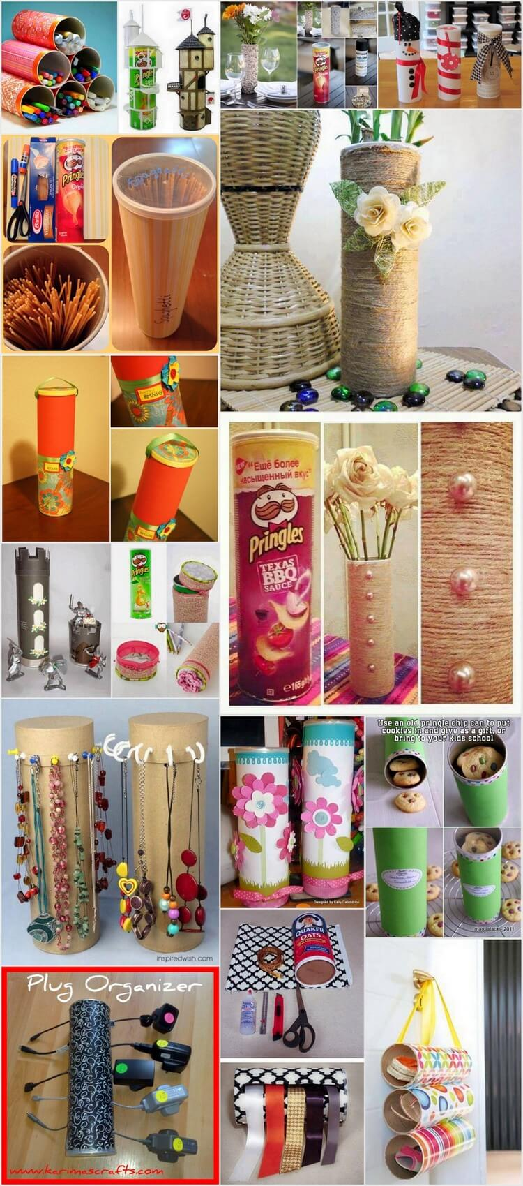 EXCITING WAYS TO UPCYCLE PRINGLE TUBES