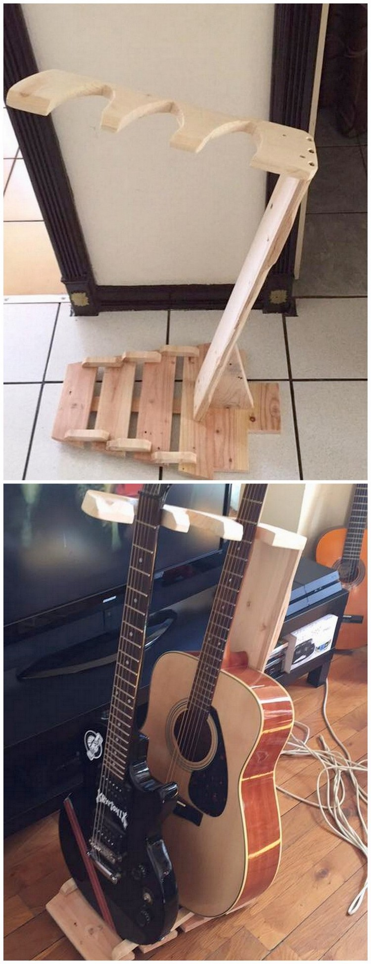 Pallet Guitar Stand