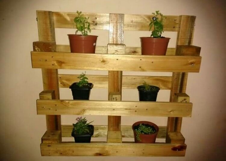 Pallet Planter Pots Wall Stand