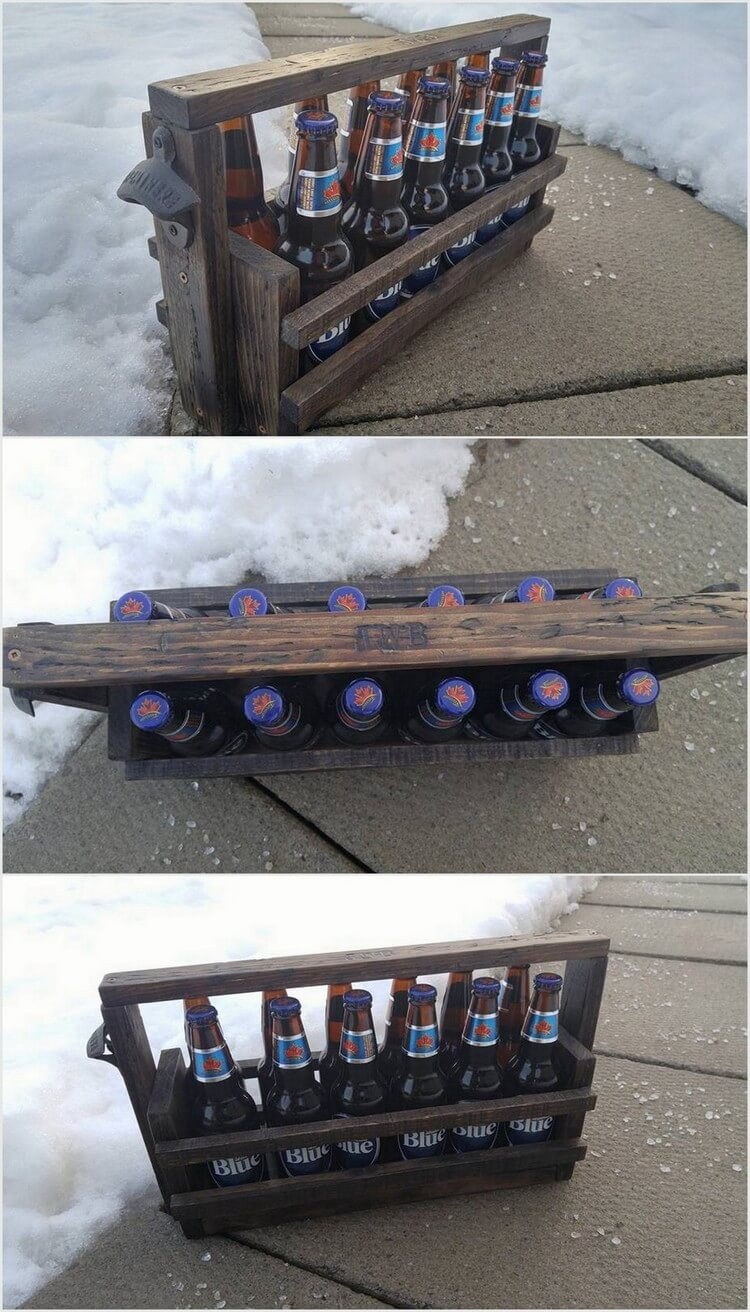 Pallet Wine Rack Bottles Holder