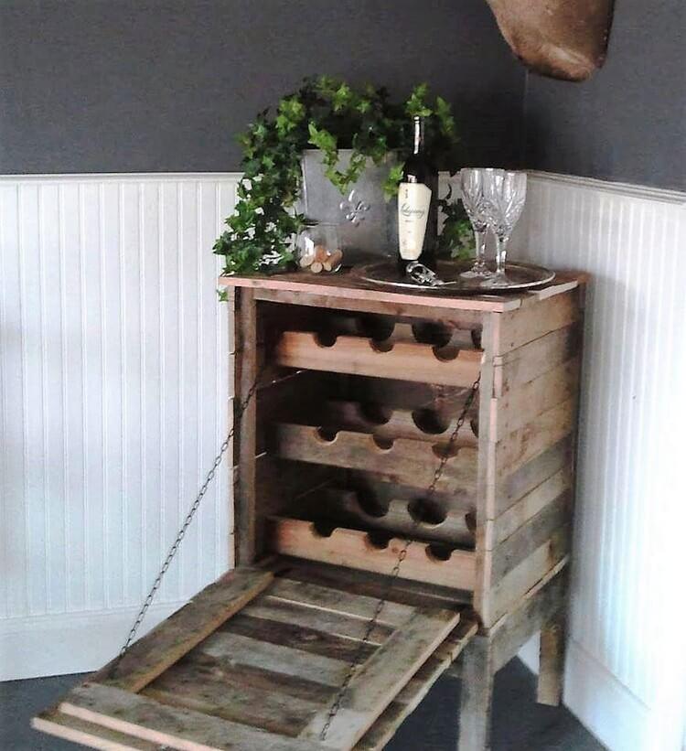 Pallet Wine Rack - Cabinet