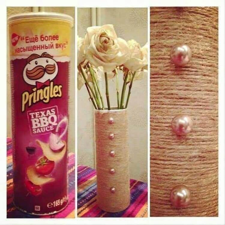 Pringle Tube Flower Vase