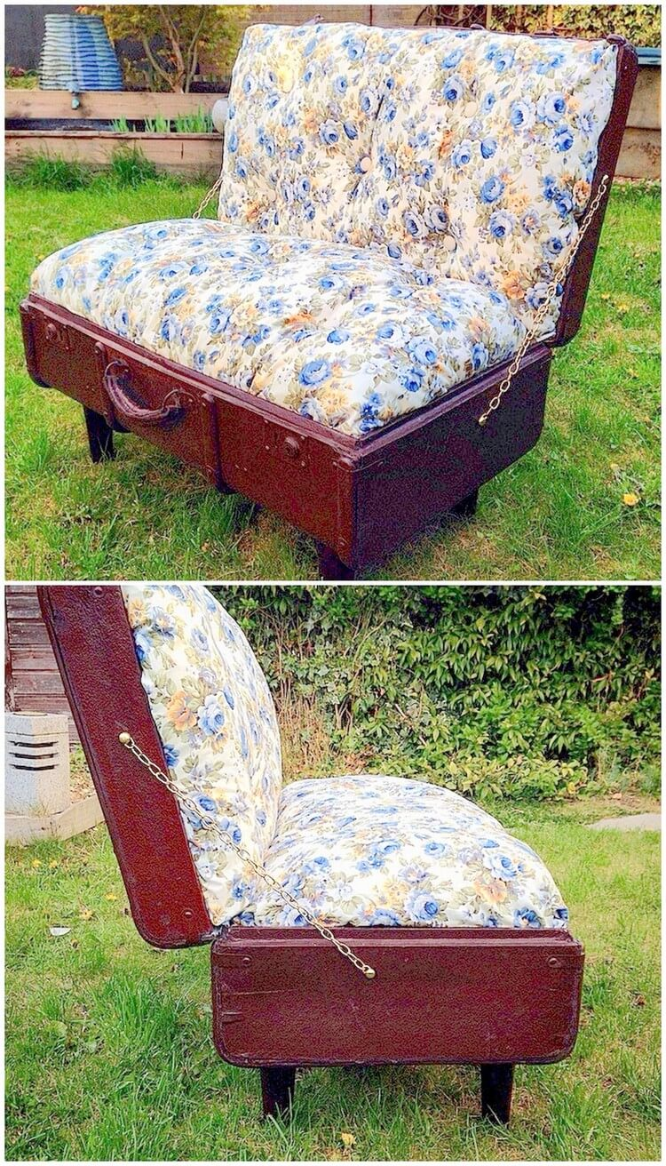 Recycled Suitcase Comfy Couch