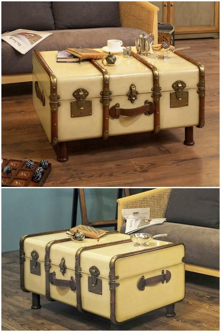 Recycled Suitcase Table