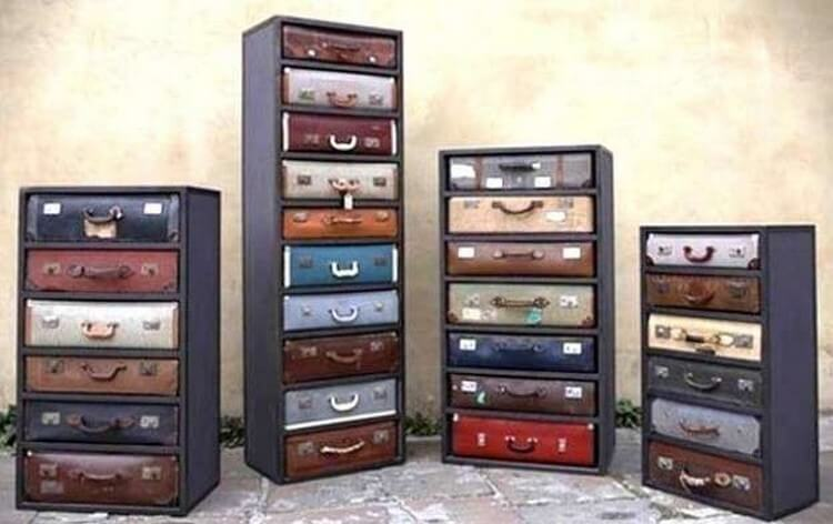 Recycled Suitcases Creation