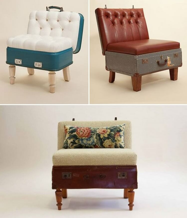 Recycling Suitcases Furniture