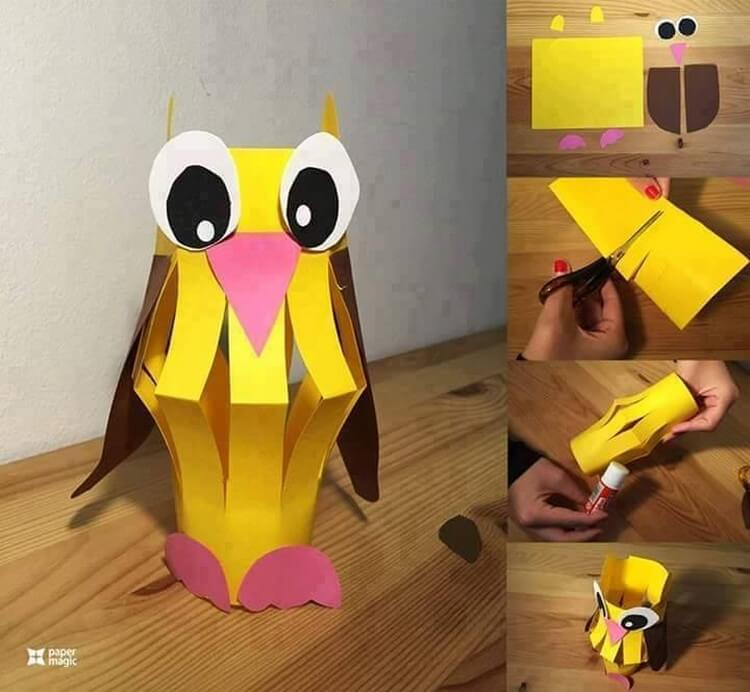 Easy paper craft ideas for kids with diy tutorials for Easy things to make out of paper for kids