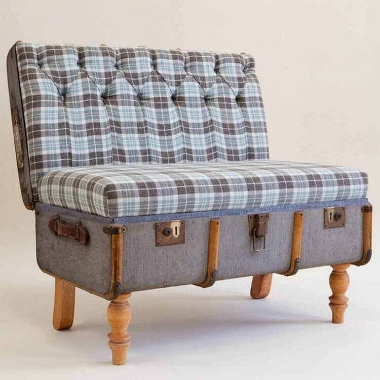 Vintage Suitcase Modern Chair