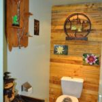 Wood Pallet Bathroom Display Wall