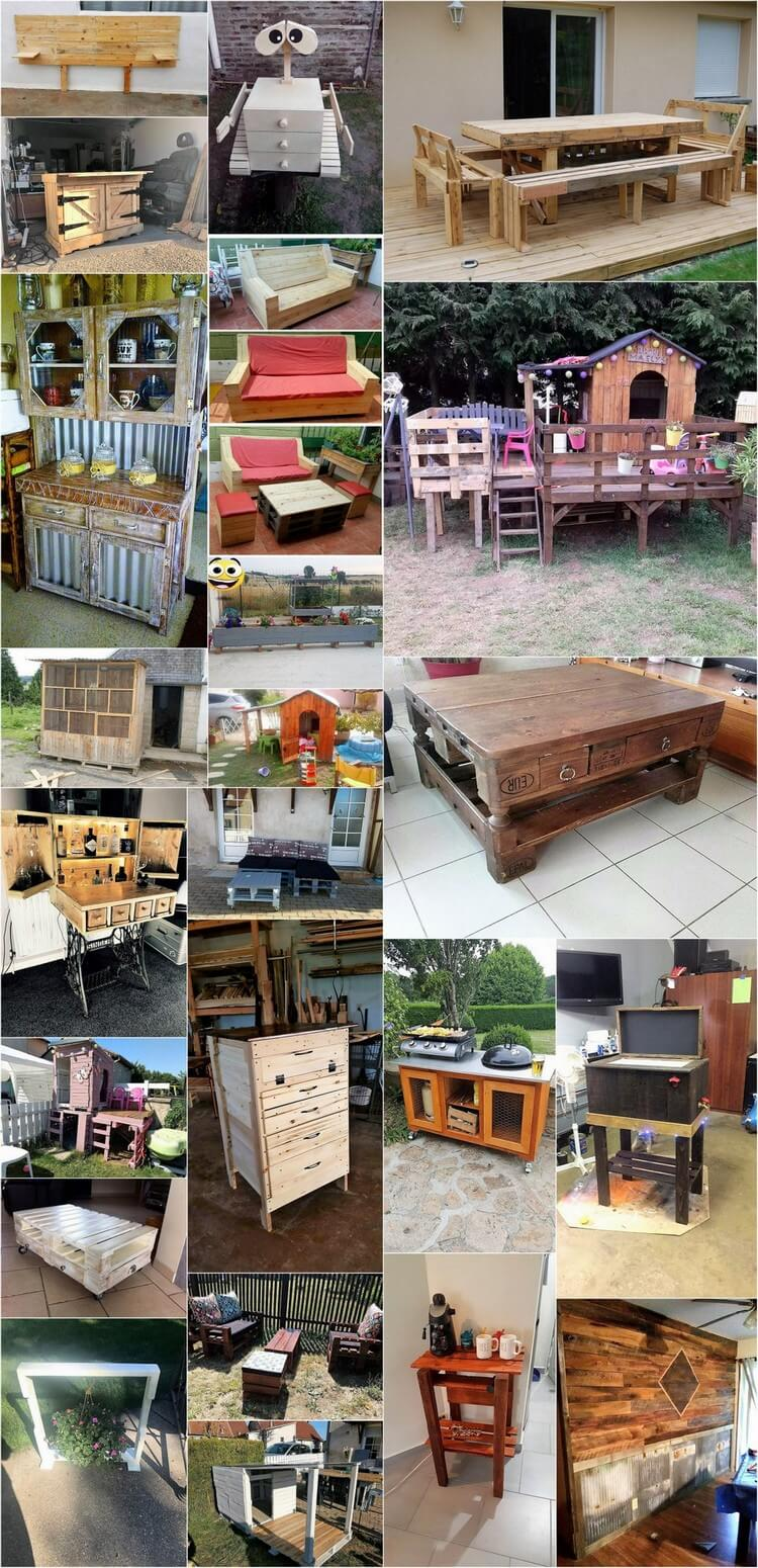 30 Amazing Plans for Reusing Used Wood Pallets
