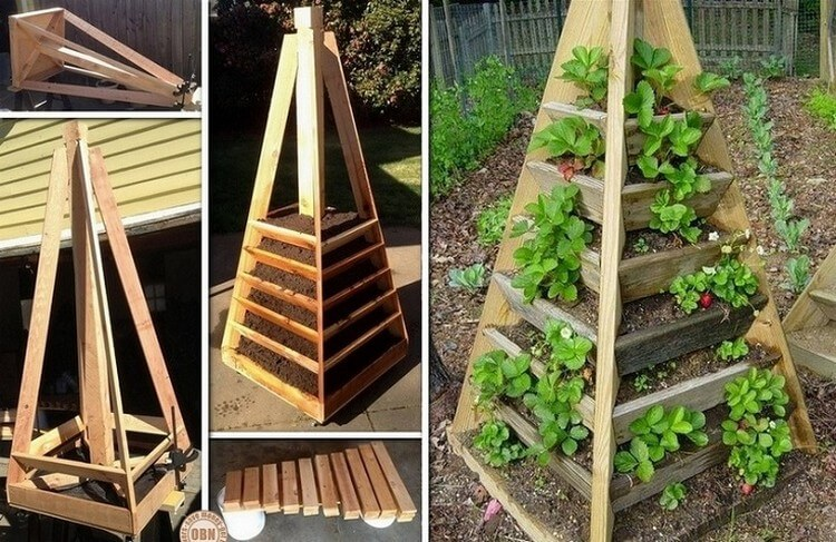 DIY Vertical Pyramid Garden Planter
