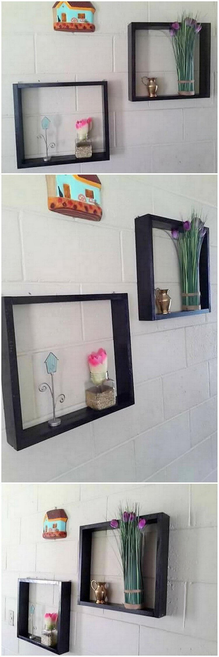 Decorative Pallet Wall Shelves