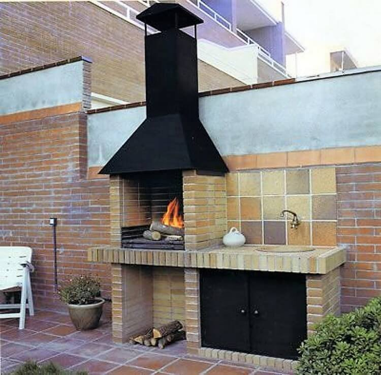 Outdoor BBQ Grill Design
