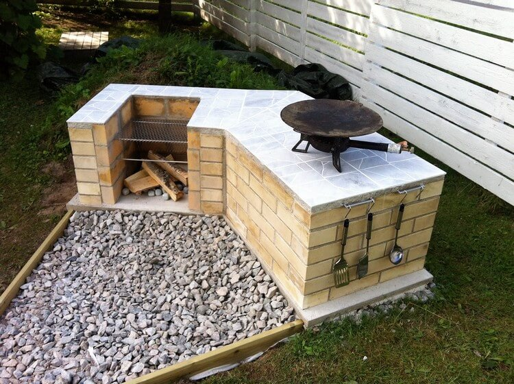 Outdoor BBQ Grill Idea