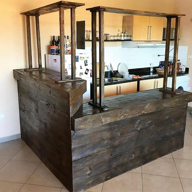 Cheap and easy diy wood pallet ideas that will inspire you for Diy wood bar